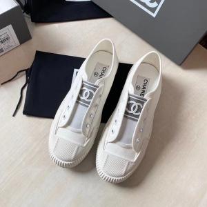 CHANEL/香奈儿圆头无带休闲女鞋 帆布鞋