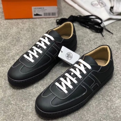Hermes\爱马仕H拼色运动鞋低帮休闲鞋 男士系带板鞋