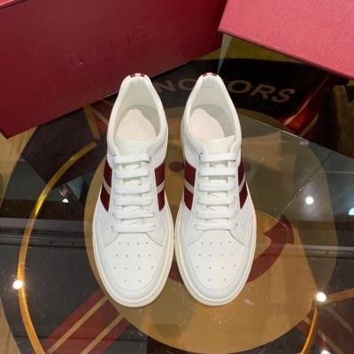 Bally/巴利男鞋休闲牛皮低帮板鞋系带运动鞋织带透气小白鞋