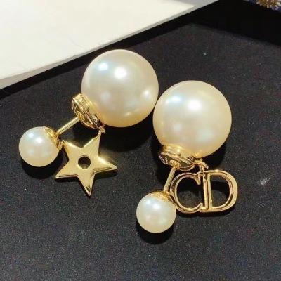Dior 迪奥珍珠星星CD耳钉 小清新款式