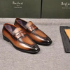 Berluti\布鲁提新款男士商务休闲 古法手工染色擦色工艺拼皮乐福皮鞋