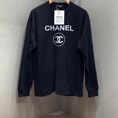 Chanel香奈儿卫衣   春秋情侣款长袖圆领套头T恤-16