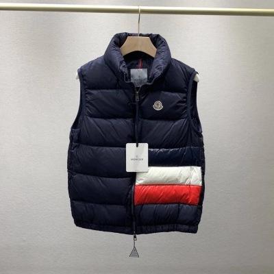 Moncler蒙口羽绒马甲  冬季情侣款立领白鹅绒隐形口袋背心-16