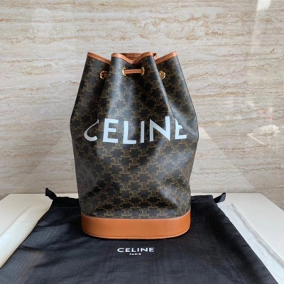 Celine/赛琳  复古老花字母抽绳双肩包 斜挎背包女 SL-JXG