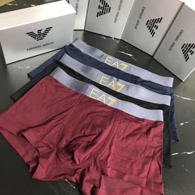 经典 阿玛尼 时尚男士内裤 无缝切割工艺 科学配 91%莫代尔+9%氨纶,丝滑 透气 舒适 一盒三条gdwj082822