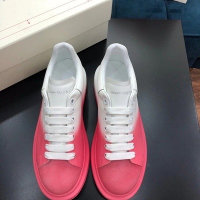 Mcq\麦昆新款涂鸦漆面小白鞋男女休闲运动鞋 情侣厚底板鞋