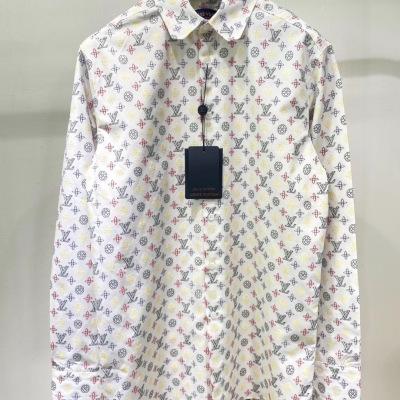 lv路易威登衬衫 2020 秋冬前系列造型注入经典意味 柔软棉长袖衬衣男女同款-8