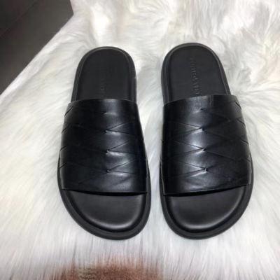 BV\宝缇嘉男士居家外穿拖鞋款式百搭 编织皮质鞋拖