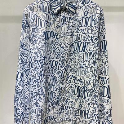 Dior/迪奥2020新款男装满logo字母提花休闲长袖上衣衬衫1-111AM