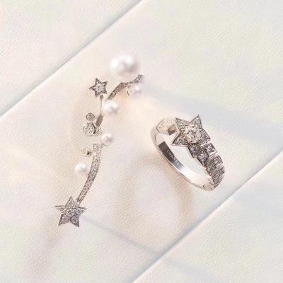 Chanel香奈儿小香新款五角星 惠星系列流星镶钻戒指