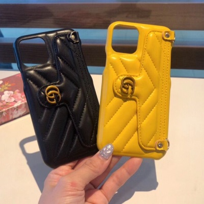 古驰marmont同款斜挎包包手机壳 三包软壳 马卡龙多色 可斜挎 手机支架 卡包ydmz090401