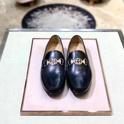 Gucci\古驰乐福鞋 牛皮真皮大底 四季单品 随意搭配 五金扣商务休闲男士皮鞋