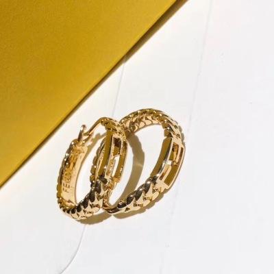 FENDI 芬迪高端耳环 造型完美黄铜材质耳钉