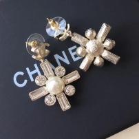 Chanel香奈儿 珍珠方钻小香耳钉