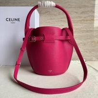 Celine赛琳 柔软粒面小牛皮水桶包 可调节及可拆卸肩带,1个带扣可束合袋口 可斜挎和手提 SL-JXG