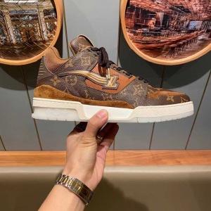 Lv\路易威登 2020新款老花运动鞋 男士低帮复古休闲鞋