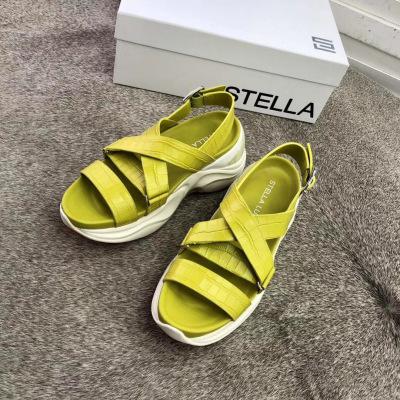 Stella luna/露娜女鞋2020夏季新款时尚百搭运动鞋 厚底增高老爹凉鞋
