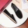 Ferragamo/菲拉格慕男鞋新款纯色真皮平底报表麻渔夫鞋