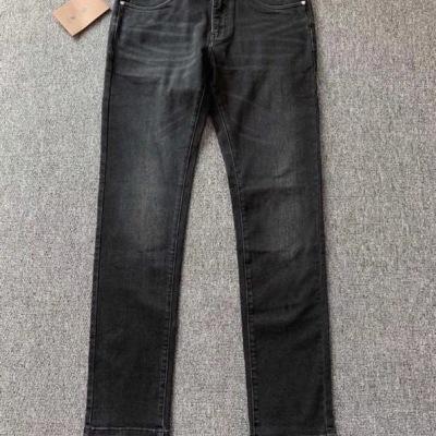 BURBERRY/巴宝莉牛仔裤 秋冬男士弹力黑色长腿裤子-2