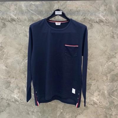 Thom Browne长袖t恤舒适百搭男女长袖棉同款上衣-12