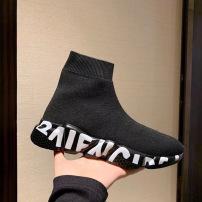 Balenciaga\巴黎世家奥利奥弹力针织袜子鞋 字母男女休闲情侣鞋