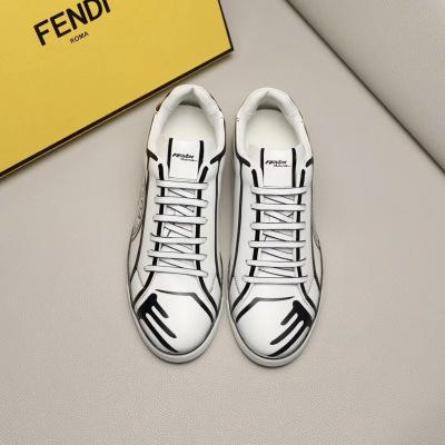 Fendi\芬迪2020新款男鞋 3D打印独特线条 印花 男士系带休闲鞋