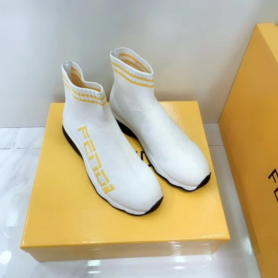 Fendi\芬迪2020新款字母针织袜子鞋 增高休闲鞋