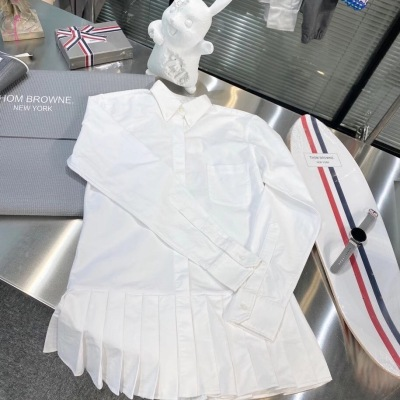 TB汤姆布朗百褶衬衣裙 女款长袖衬衫连衣裙-12