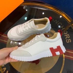Hermes\爱马仕新款男士休闲运动鞋透气网面拼接H低帮跑步鞋