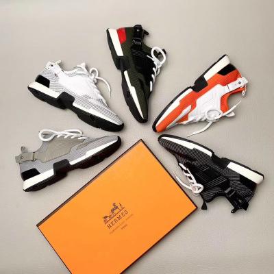 Hermes\爱马仕男士运动鞋2020新款系带休闲跑步鞋厚底运动鞋