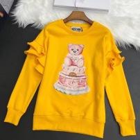 Moschino莫斯奇诺卫衣  春秋女士立体荷叶花边袖蛋糕泰迪熊蛋糕印花长袖上衣-13