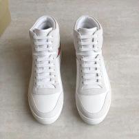 Burberry\巴宝莉男士高帮格纹休闲鞋 秋冬系带休闲鞋 小白鞋