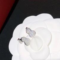 Qeelin麒麟珠宝小葫芦 满钻 耳钉 wulu系列招财葫芦系列 吸财福禄的精致葫芦小仙女必备