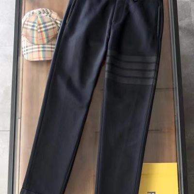 Thom Browne汤姆布朗休闲裤2020男士纯色修身长裤-13