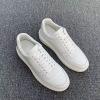 Lv\路易威登纯色运动鞋四季百搭款男士经典休闲系带小白鞋