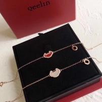 Qeelin麒麟珠宝18K玫瑰金yuyi系列红玉髓白贝母钻石手机链明星同款系列推荐