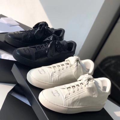 Chanel\香奈儿2020新款女士双G蝴蝶结小白鞋运动休闲板鞋