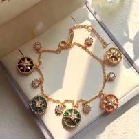 Dior迪奥 镶嵌钻石手链  罗盘多色宝石手链