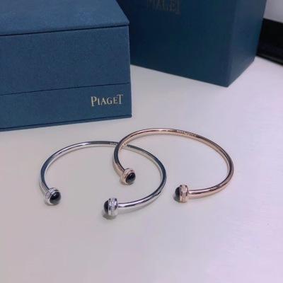 Piaget伯爵宝石转动系列玫瑰金 白金手镯 可以转动的手镯
