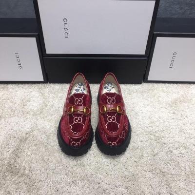 Gucci\古驰新款女士复古英伦学院风一脚蹬厚底网红明星同款懒人鞋
