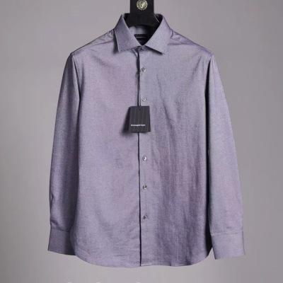 杰尼亚 Zegna 衬衫 2020商务男士磨毛长袖衬衣-5