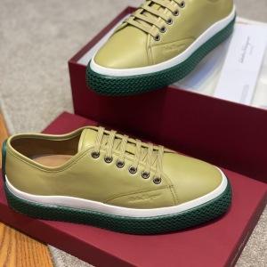 Ferragamo\菲拉格慕男鞋 低帮休闲系带板鞋 纯皮休闲鞋