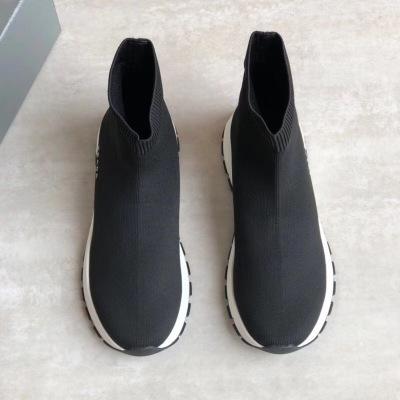 Prada\普拉达2020新款袜子鞋 飞织面料鞋面logo字母徽标 跑步休闲鞋