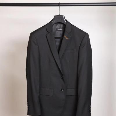 Zegna杰尼亚西服  早秋男士双粒扣黑色商务翻领上衣-24