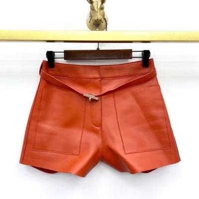 Hermes爱马仕皮短裙  秋冬女士明星同款细腰带显瘦显高-13