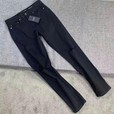 YSL/圣罗兰牛仔裤2020年新款男装时尚潮流中腰黑色弹力裤子-16
