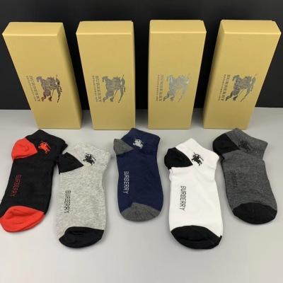 BURBERRY(巴宝莉)纯棉质量 上脚🦶舒适 吸汗透气性强 一盒5双入msyd090311