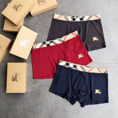 Burberry 巴宝莉   时尚男士内裤 高品质 无缝切割工艺 彰显男性性感魅力 超级好穿 一盒3条 gdwj090207
