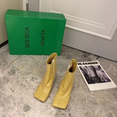 Bottega Veneta/BV2020年秋冬新款高跟方头短靴跟高8.5cm
