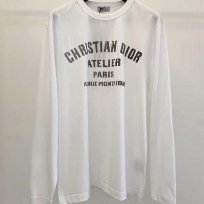 Dior迪奥T恤   春秋情侣款棉长袖圆领套头上衣-8